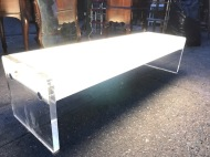LUCITE LIGHT UP COFFEE TABLE