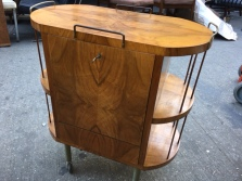 MID CENTURY MODERN BURL WOOD BAR 4