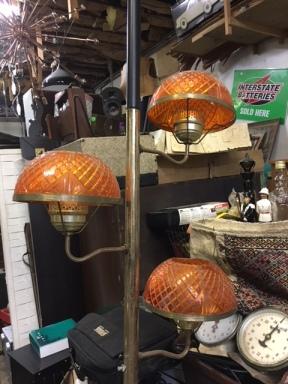 MID CENTURY POLE LAMP