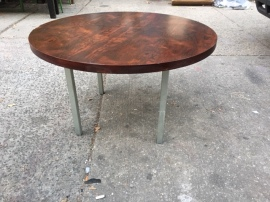 MID CENTURY ROUND COFFEE TABLE