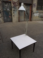 TABLE WITH ARTICULATING LAMP
