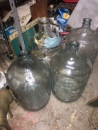 5 GALLON GLASS JUGS