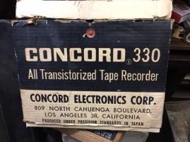 CONCORD 330 TAPE RECORDER