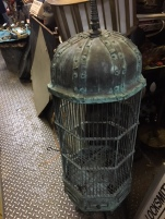 COPPER ANTIQUE BIRD CAGE