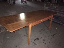 DANISH MODERN EXPANDABLE DINING TABLE 94X34.5 - 53X34.5 OPEN