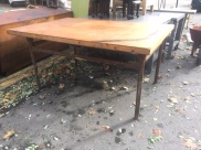 LARGE WOOD TOP TABLE