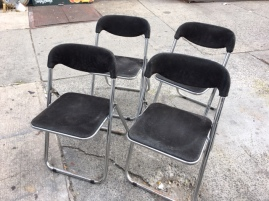 MID CENTURY FOLDING CHAIRS