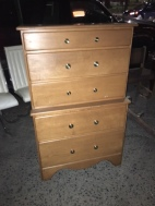 ALL WOOD TALL DRESSER