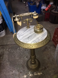 ANTIQUE PHONE ON FLOOR STAND