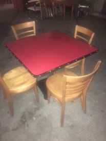 DINER TABLE AND THONET CHAIRS