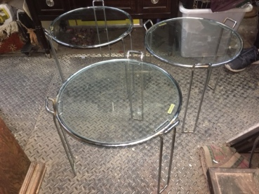 MID CENTURY CHROME TABLES 2