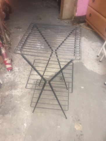 MID CENTURY IRON RACK