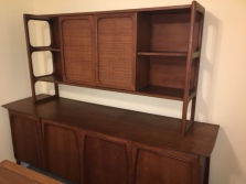 MID CENTURY MODERN CREDENZA WITH TOP