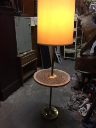 MID CENTURY MODERN TILE TABLE LAMP