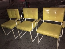 RETRO YELLOW CHAIRS