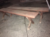 VINTAGE WOOD BENCHES