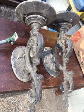CAST IRON SCONCES