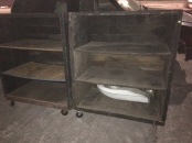 INDUSTRIAL WOOD CARTS $50