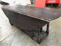 LARGE WOOD FROP LEAF TABLE 2