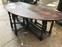 LARGE WOOD FROP LEAF TABLE OPEN 2