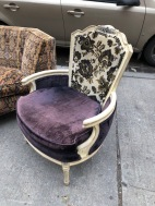 CRUSHED VELVET CHAIR 2