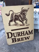 DURHAM BEER WOOD SIGN