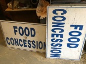 FOOD CONCESION WOOD SIGN