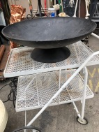HUGE CAST IRON BOWL