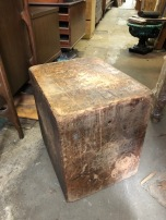 INDUSTRIAL COFFEE BLOCK OF WOOD TABLE