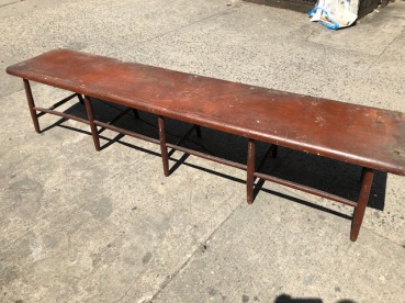 83 inch wood bench