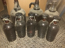 ANTIQUE AMBER APOTHICARY BOTTLES