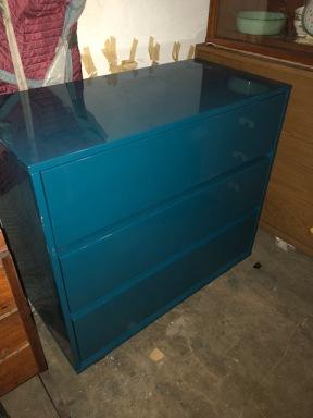 BLUE EPOXY DRESSER