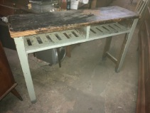 "INDUSTRIAL DESK 48""x15"" deep x 31"" tall"