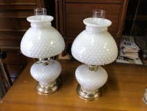 MILK GLASS LAMPS