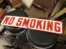 OLD PORCELAIN NO SMOKING SIGN $150