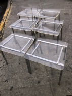 SIX LUCITE CHAIRS $600