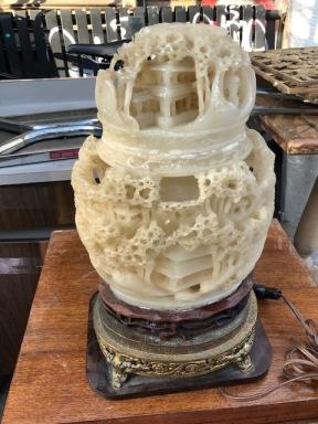 SOAP STONE LAMP