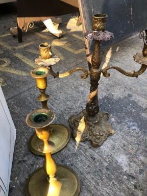 TIQUE BRASS CANDLE STICKS