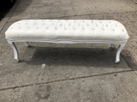 VINYL TUFTED BENCH
