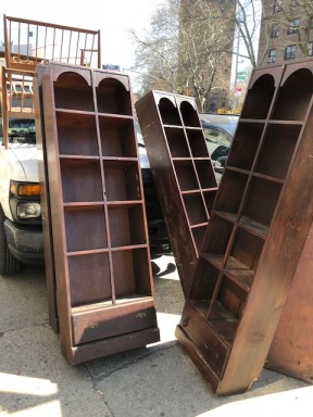 WOOD BOOK SHELVES $125
