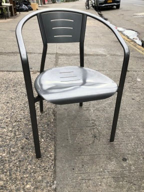 1980'S METAL CHAIR
