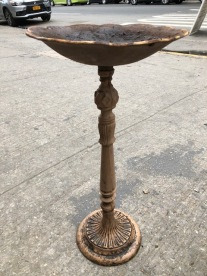 CAST IRON BIRD BATH