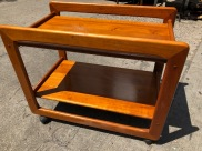 DANISH MODERN TEAK CAR CART