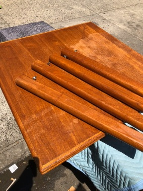 DANISH TEAK TABLE 36X36