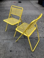 OUTDOOR METAL FOLDING CHAIRS