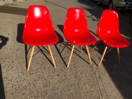 RED MCM CHAIRS