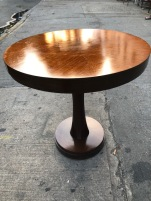 32 DIAMETER WOOD TABLE