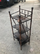 ANTIQUE RATTAN BOOKSHELF