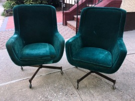 BRICKLE ASSOCIATES VELVET CHAIRS