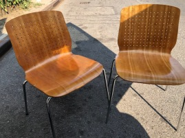 GEIGER & BRICKEL PLYWOOD CHAIRS